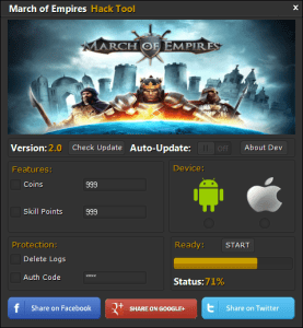March of Empires Hack Cheats Coins Hack, Include Unlimited Skill Points Hack