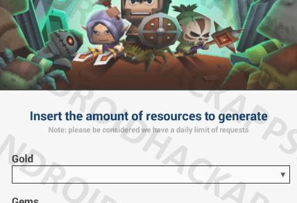 Tiny Legend Monster Crasher Hack APK Gold and Gems