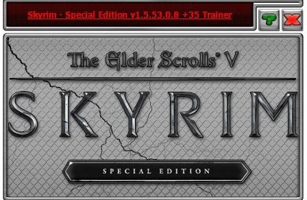 THE ELDER SCROLLS 5 SKYRIM SPECIAL EDITION TRAINER