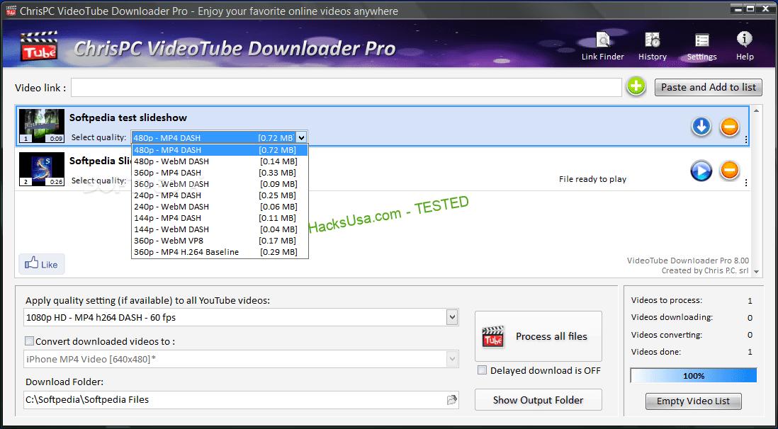 Imagini pentru ChrisPC VideoTube Downloader Pro