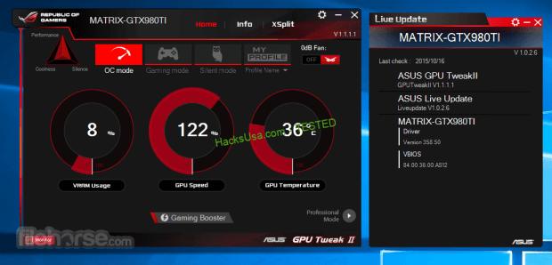 ASUS GPU Tweak Crack and Keygen Full maximum performance of your ASUS video card