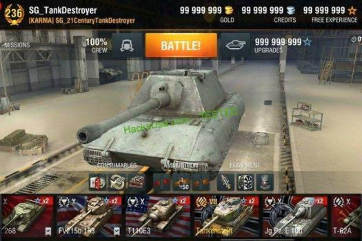 World Of Tanks Hack get unlimitedhp, exp, gold, ammo, credits 2