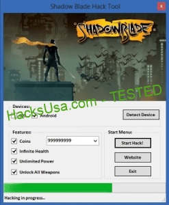 Shadow Blade Hack Add Unlimited Coins Infinite Health