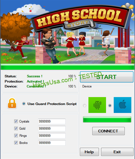 High School Story Hack coins Unlimited gems