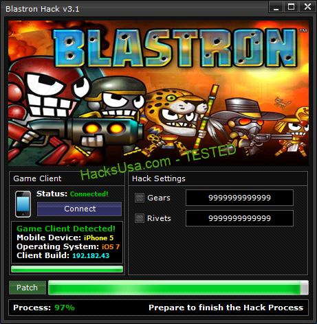 Blastron Hack Gears Add Unlimited Rivets
