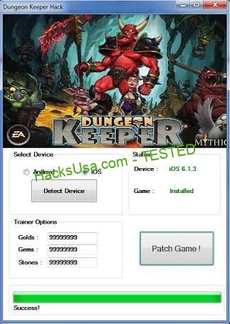 Dungeon Keeper 2 Hack gold Unlimited gems