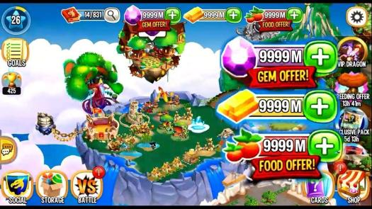Dragon City Hack food Unlimited gold Unlimited gems 2