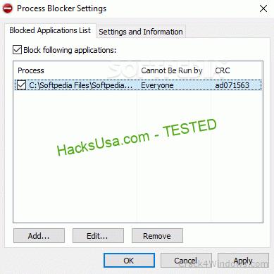 Process Blocker 1.1.1.0 Crack + Serial Key