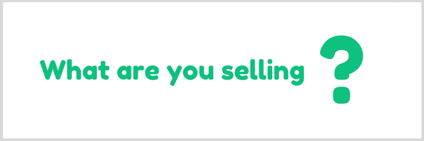 what are you selling with your sales page