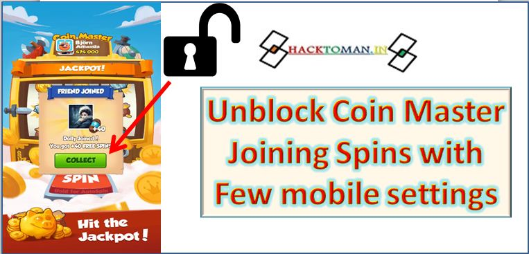 How to unblock coin master id
