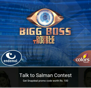snapdeal biggboss offer