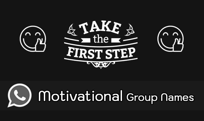 motivational whatsapp group names list