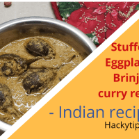 Instant Pot Recipes: Stuffed Eggplant/Brinjal curry