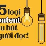 15 loại content thu hút người đọc