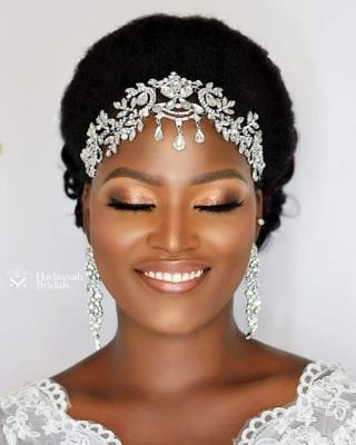 UNIQUE AFRICAN WEDDING SHORT HAIRSTYLES FOR BRIDES