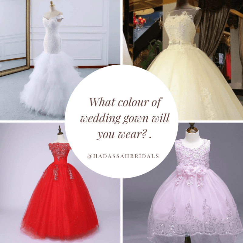 White Wedding Dress : Would you wear any other colour?
