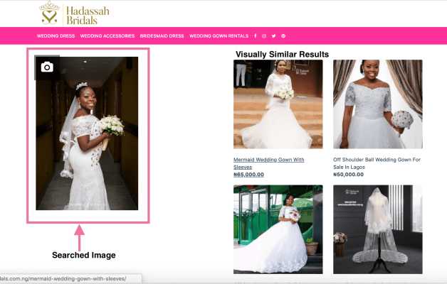 Hadassah Bridals Introduces Visual Search