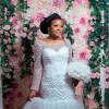 beaded mermaid wedding gown