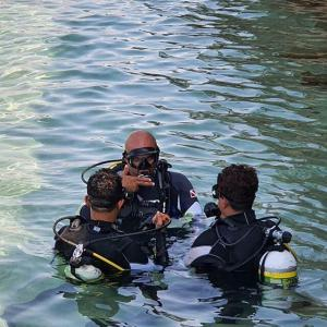 Instructor with Students On the surface