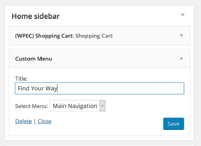 WordPress Widgets - Haden Interactive