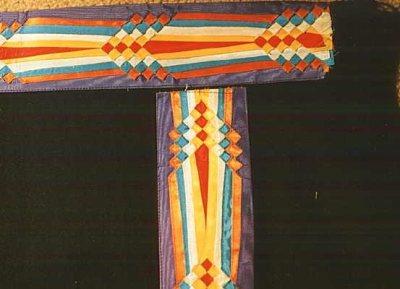 Osage ribbon work