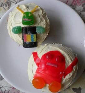 robot cupcakes