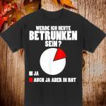 Betrunken Diagramm Lustiger Spruch Alkohol Party Geschenk Shirt