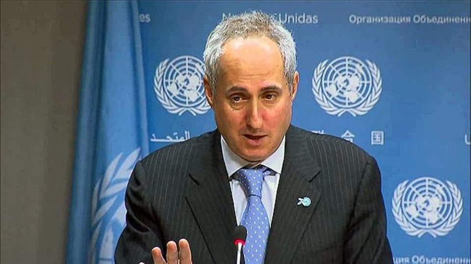 """المتحدث باسم الأمم المتحدة """"ستيفان دوجاريك"""""""
