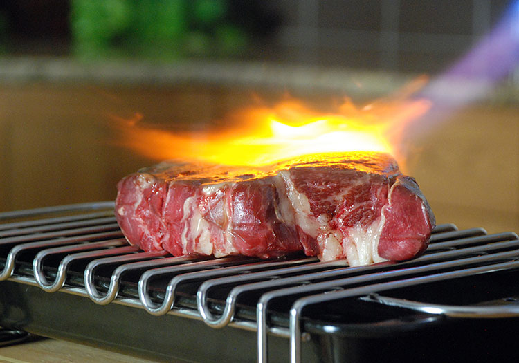 What is Meat Searing - Sear with blower