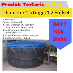 jual kolam terpal diameter 1,5