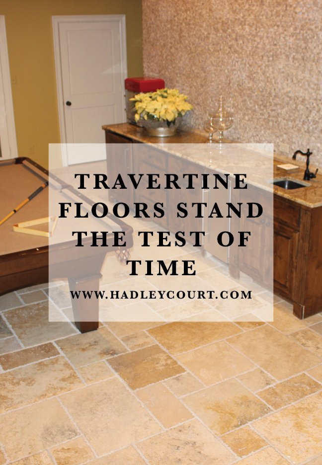 travertine floors stand the test of