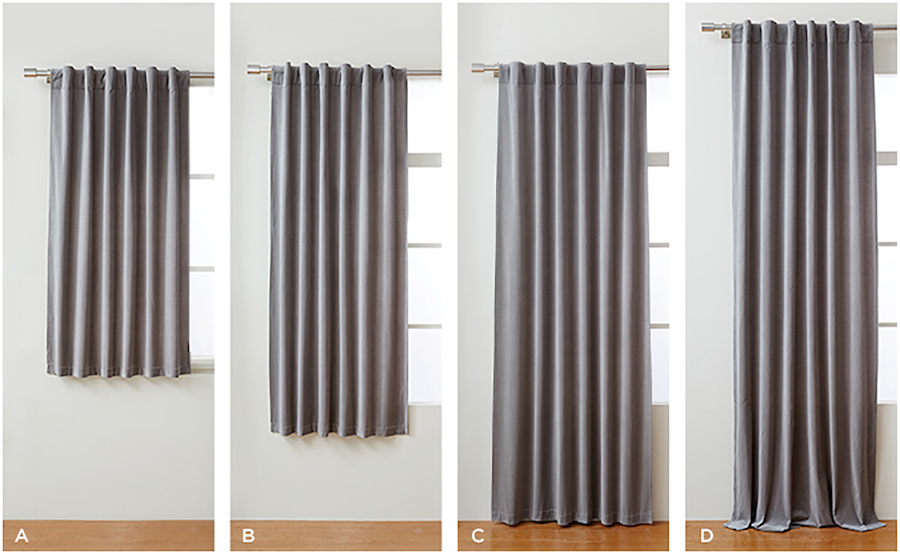 how to choose the right curtain lengths