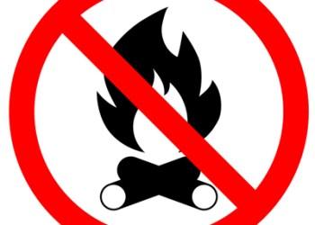 no bonfire sign
