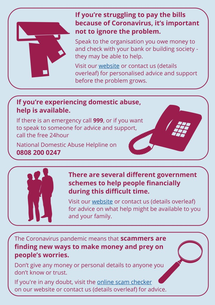 Citizens Advice poster part 2 - text in full below