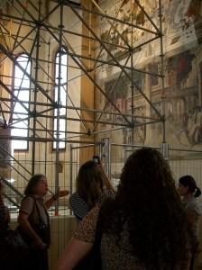 Mantegna fresco at the Eremitani Chapel, Padua