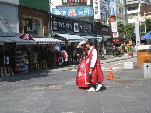 Traditional street and traditional dress