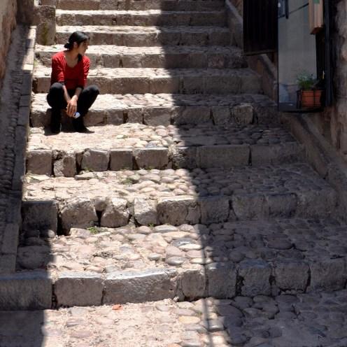 So many stairs in Cusco - taking a break