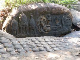 Ein weiteres Relief mit Vishnu, Lakshmi und Brahma