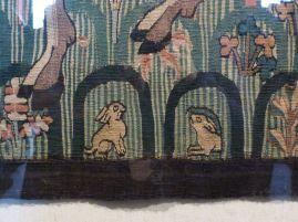 Osterhasen gefunden! Auf einer mittelalterlichen auf der Wartburg Tapiserie