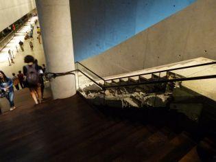 Das originale Treppenhaus aus einem der Twin Towers im 9/11 Museum