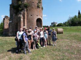 Gruppenfoto im Circus des Maxentius