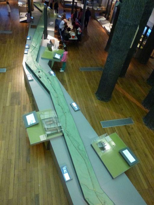 Hadrianswall en miniature im Great North Museum