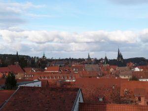 Blick über Quedlinburg vom Schloßberg aus
