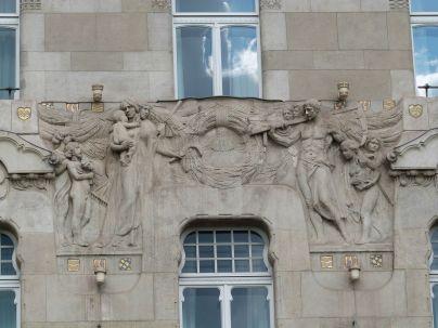Reliefdetail am Gresham-Palast