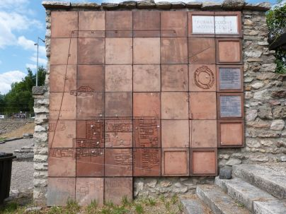Plan des Archäologischen Parks, vergessen am ehemaligen Haupteingang