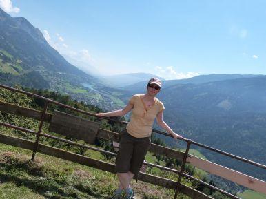 Blick ins Mölltal und zum Millstätter See von der Spitze des Danielsbergs