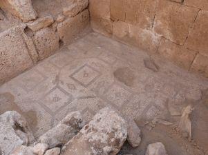 Mosaik in Qastal
