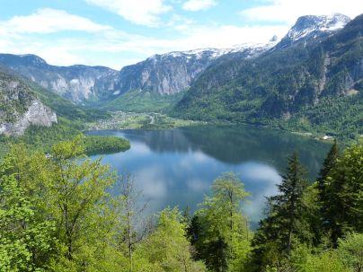 Blick auf den Hallstätter See vom Salzberg