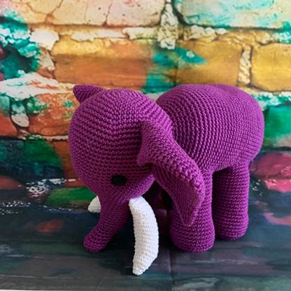 Elefant - Handgefertigtes Einzelstück - MissTicreations - Häkeltier