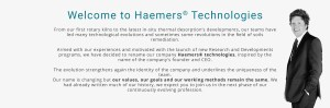 welcome to haemers technologies - message from JAN HAEMERS CEO